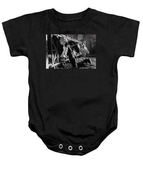 Cows In The Barn2 Baby Onesie