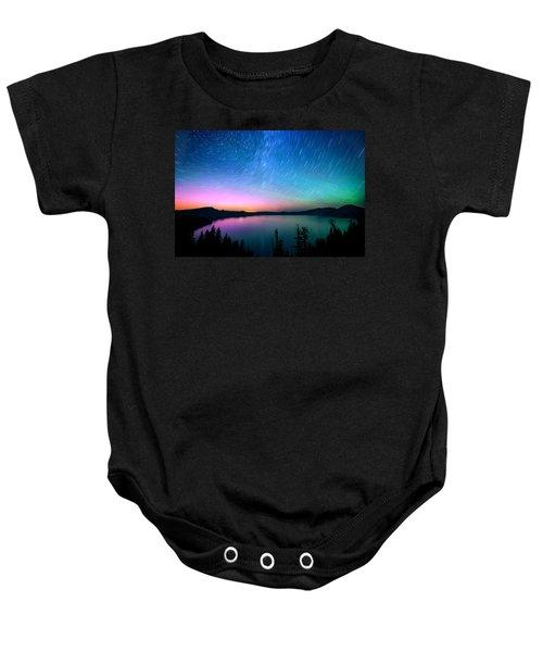 Crater Lake Aurora  Baby Onesie