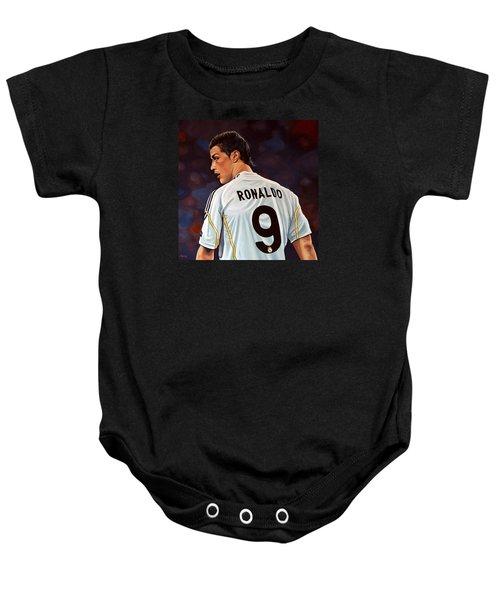 Cristiano Ronaldo Baby Onesie by Paul Meijering