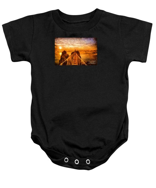 Cross That Bridge Baby Onesie