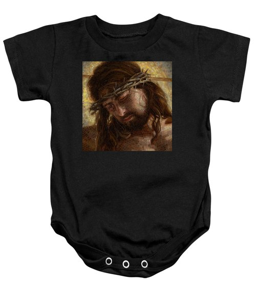 Crown Of Thorns Glass Mosaic Baby Onesie