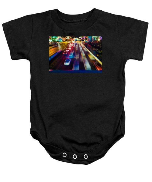 Baby Onesie featuring the photograph Cruising The Strip by Alex Lapidus