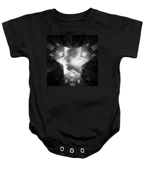 Cubic Star Baby Onesie