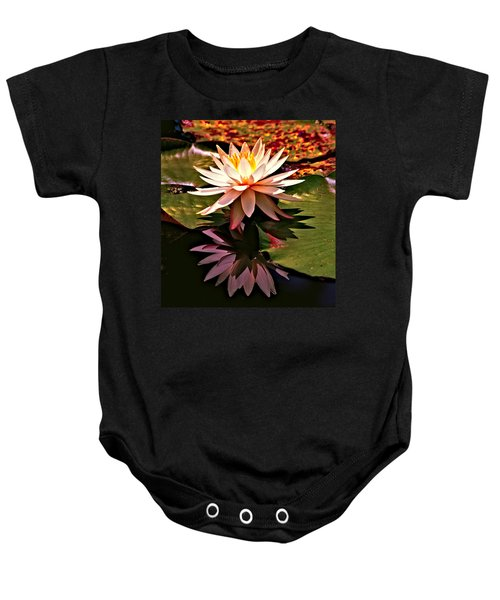 Cypress Garden Water Lily Baby Onesie by Bill Barber