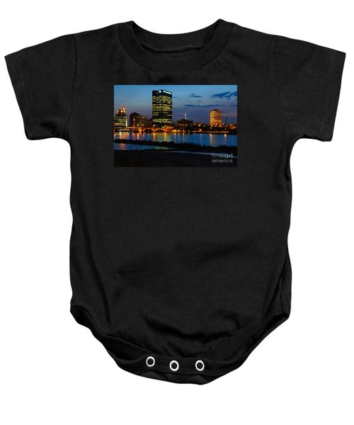 D12u152 Toledo Ohio Skyline Photo Baby Onesie
