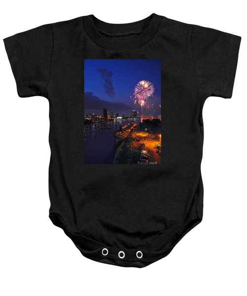 D12u470 Red White And Kaboom In Toledo Ohio Photo Baby Onesie