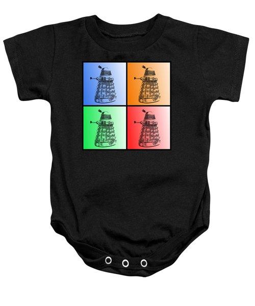 Dalek Pop Art Baby Onesie