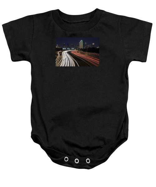 Dallas Night Baby Onesie by Rick Berk