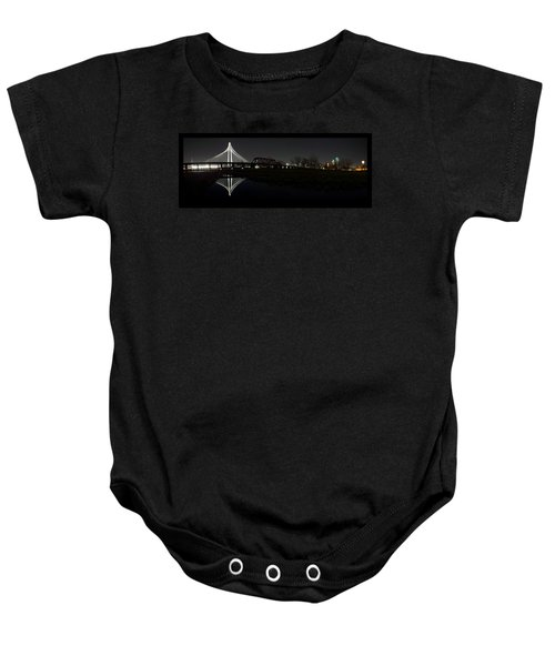 Dallas Skyline Hunt Bridge Color Baby Onesie