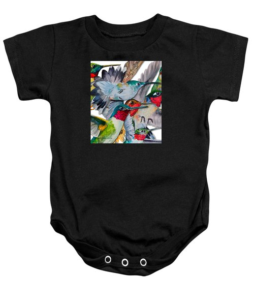Da133 Hummingbirds By Daniel Adams Baby Onesie