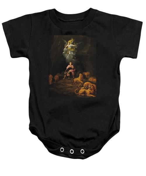 Daniel In The Den Of Lions Oil On Canvas Baby Onesie