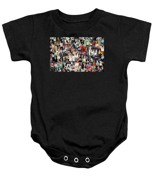 David Bowie Collage Baby Onesie