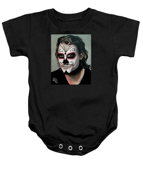 Day Of The Dead - Heath Ledger Baby Onesie by Tom Carlton