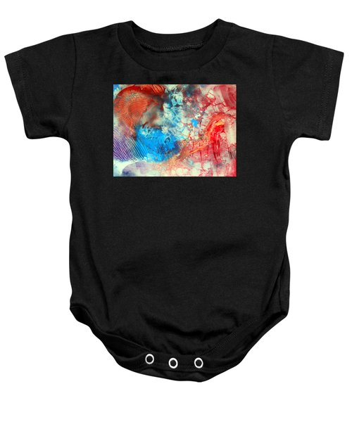 Decalcomaniac Colorfield Abstraction Without Number Baby Onesie
