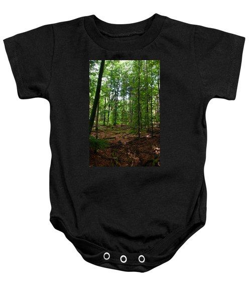 Deep Forest Trails Baby Onesie