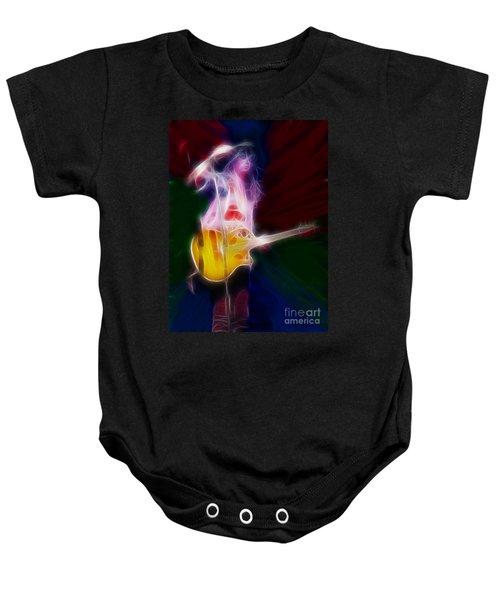 Deff Leppard-adrenalize-joe-gf25-fractal Baby Onesie