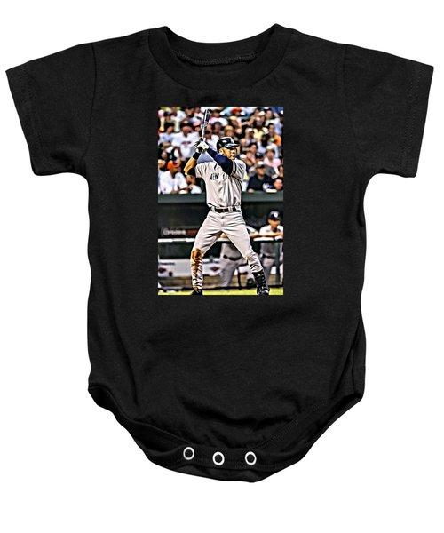 Derek Jeter Painting Baby Onesie