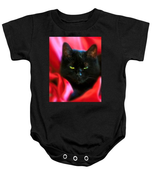 Devil In A Red Dress Baby Onesie by Bob Orsillo