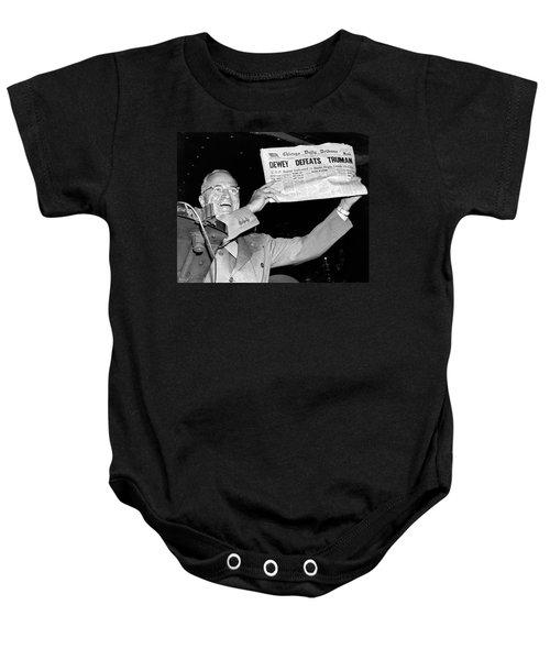 Dewey Defeats Truman Newspaper Baby Onesie