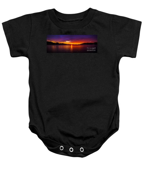 Dexter Lake Oregon Sunset 2 Baby Onesie