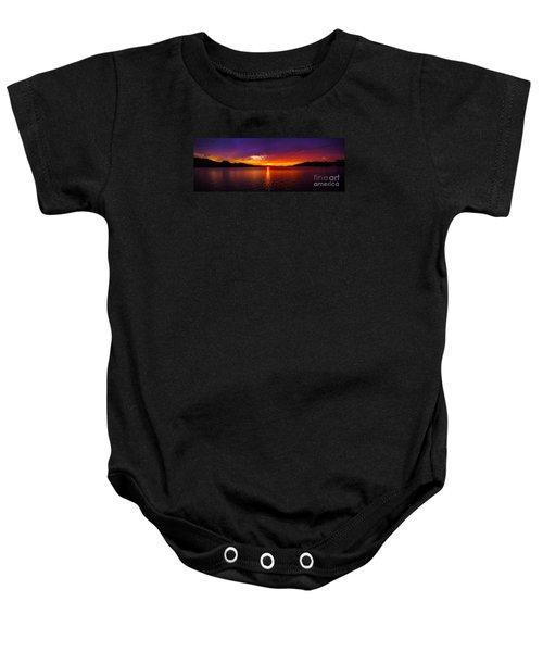 Dexter Lake Oregon Sunset 2 Baby Onesie