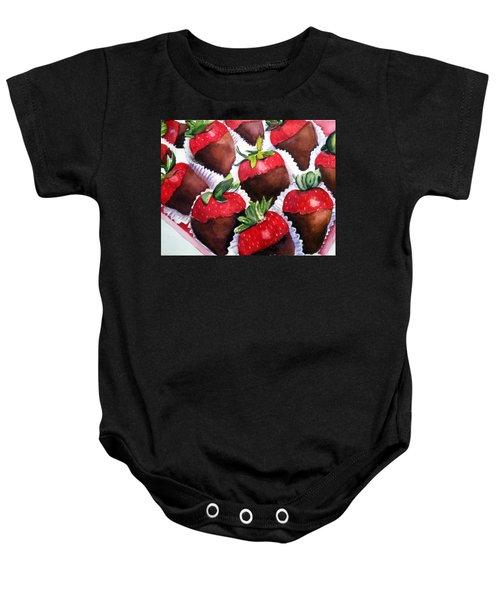 Dipped Strawberries Baby Onesie
