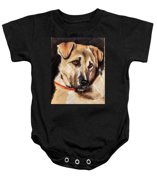 Dog Portrait Drawing Baby Onesie