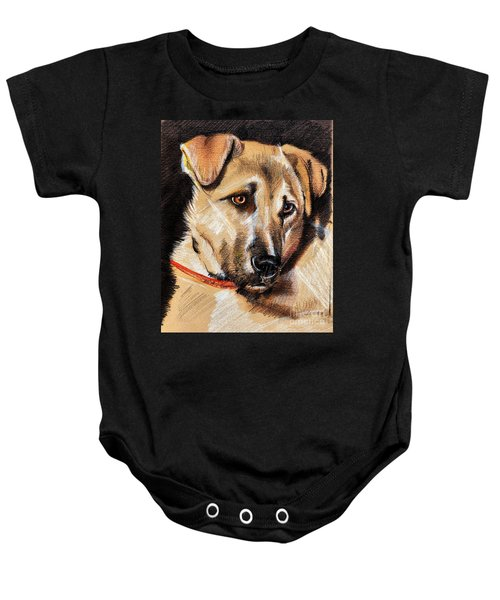 Dog Portrait Drawing Baby Onesie