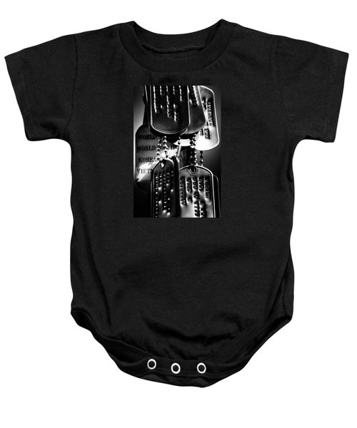 Dog Tags From War Baby Onesie