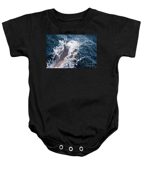 Dolphin Splash Baby Onesie