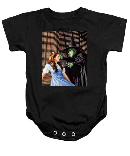 Dorothy And The Wicked Witch Baby Onesie