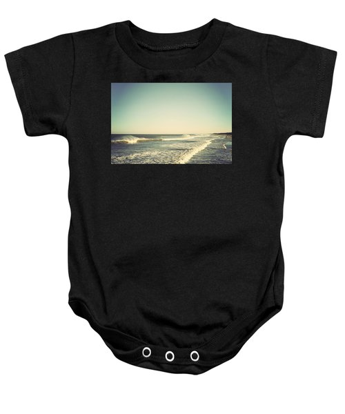 Down The Shore - Seaside Heights Jersey Shore Vintage Baby Onesie