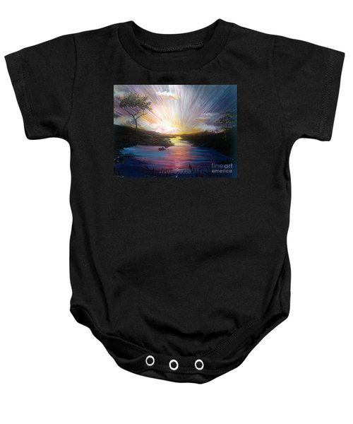 Down To The River Baby Onesie