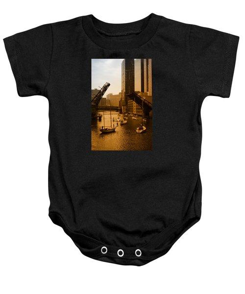 Downtown Chicago Baby Onesie