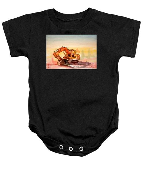 Dozer In Watercolor  Baby Onesie