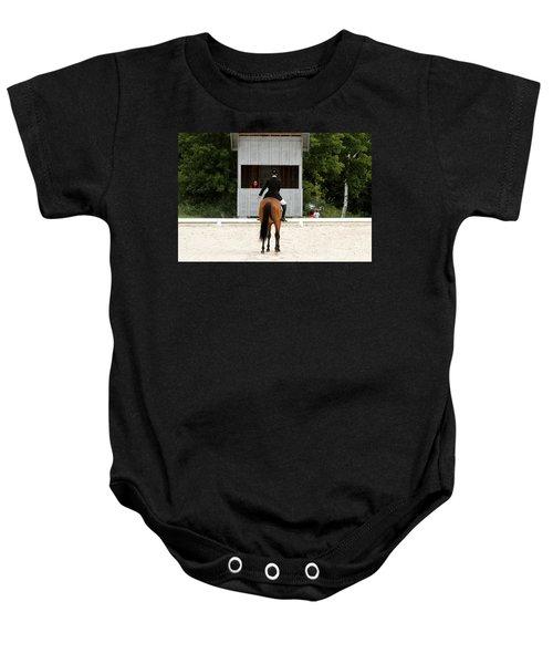 Dressage Salute Baby Onesie