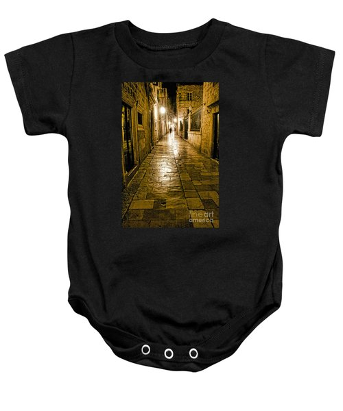 Dubrovnik Streets At Night Baby Onesie