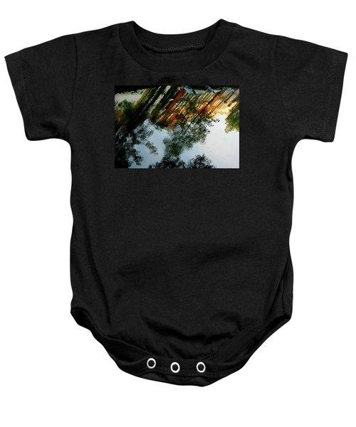 Dutch Canal Reflection Baby Onesie