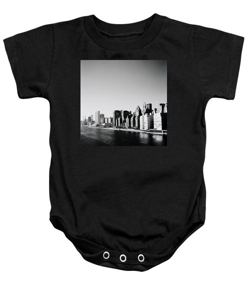 East River New York Baby Onesie