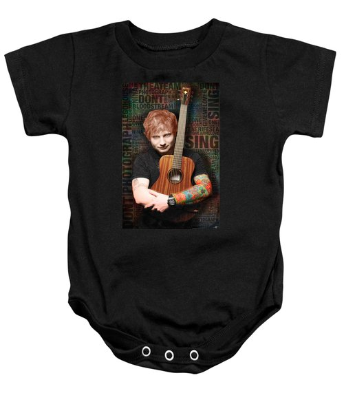 Ed Sheeran And Song Titles Baby Onesie
