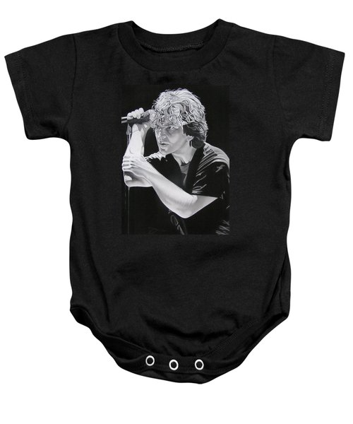 Eddie Vedder Black And White Baby Onesie by Joshua Morton