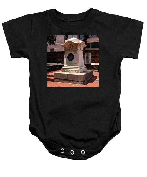 Edgar Allan Poe Tomb Baby Onesie