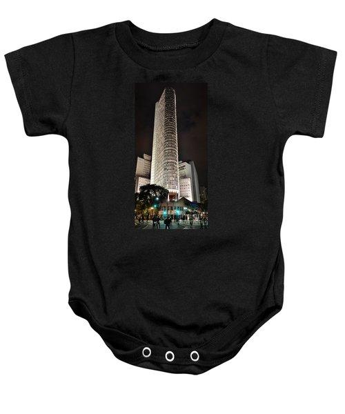 Edificio Italia By Night Baby Onesie