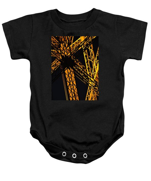 Eiffel Tower Detail Baby Onesie