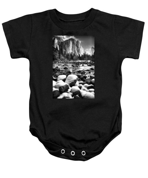 El Cap And Snow Baby Onesie