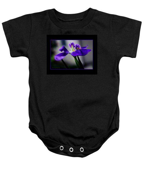 Elegant Iris With Black Border Baby Onesie