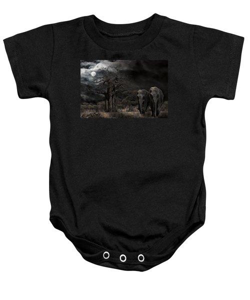 Elephants Of The Serengeti Baby Onesie