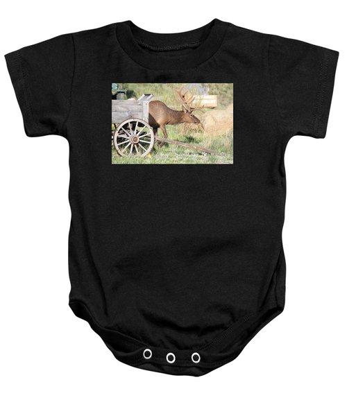 Elk Drawn Carriage Baby Onesie