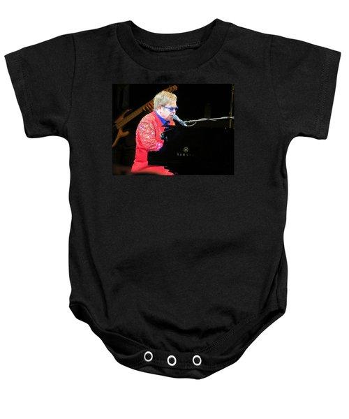 Elton John Live Baby Onesie by Aaron Martens