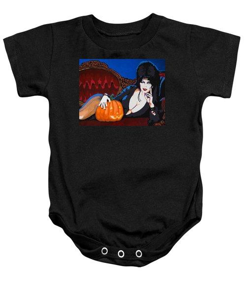 Elvira Dark Mistress Baby Onesie